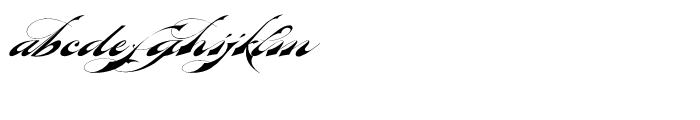 Bradstone Parker Script Font LOWERCASE