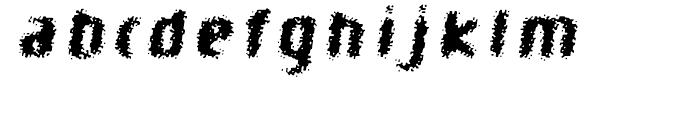 Braindead Bold Oblique Font LOWERCASE
