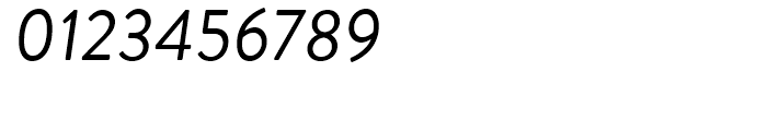 Brandon Grotesque Regular Italic Font OTHER CHARS