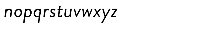 Brandon Grotesque Regular Italic Font LOWERCASE