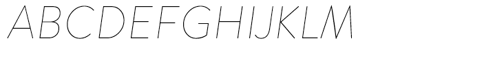 Brandon Grotesque Thin Italic Font