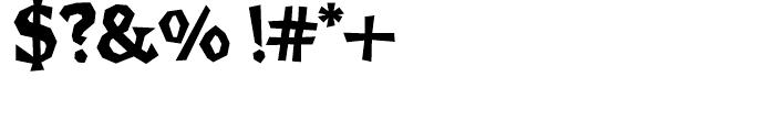 Brashee Bold Font OTHER CHARS