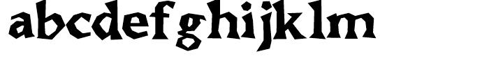 Brashee Bold Font LOWERCASE