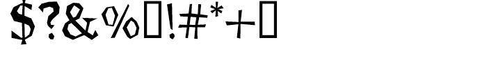 Brashee Regular Font OTHER CHARS