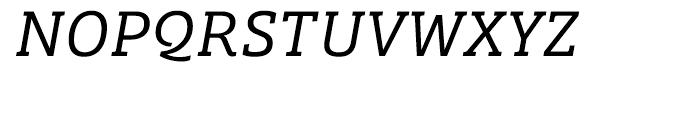 Bree Serif Light Italic Font UPPERCASE