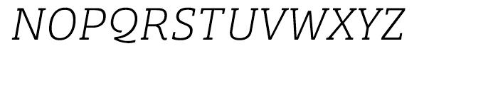 Bree Serif Thin Italic Font UPPERCASE
