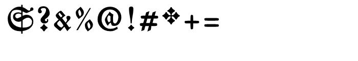 Breitkopf Fraktur Bold Font OTHER CHARS