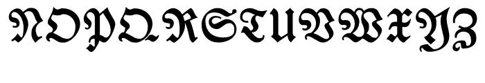 Breitkopf Fraktur Bold Font UPPERCASE