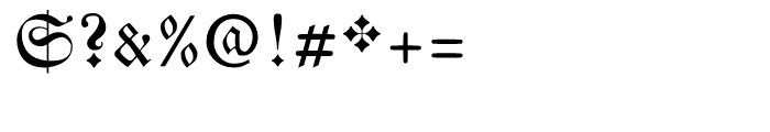 Breitkopf Fraktur Regular Font OTHER CHARS