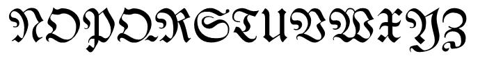 Breitkopf Fraktur Regular Font UPPERCASE