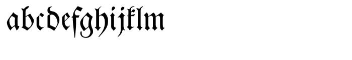 Breitkopf Fraktur Regular Font LOWERCASE