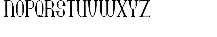 Bridgework Regular Font UPPERCASE