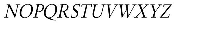 Brigade Light Italic Font UPPERCASE