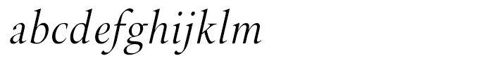 Brigade Light Italic Font LOWERCASE