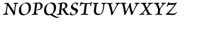 Brioso Semibold Italic Caption Font UPPERCASE