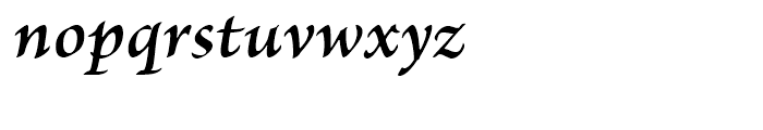 Brioso Semibold Italic Caption Font LOWERCASE