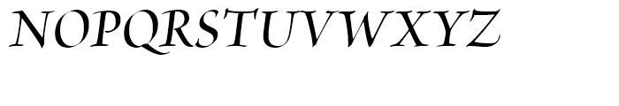 Brioso Semibold Italic Display Font UPPERCASE