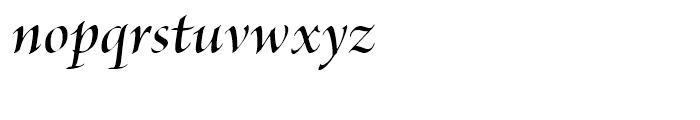 Brioso Semibold Italic Display Font LOWERCASE
