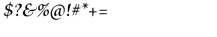 Brioso Semibold Italic Subhead Font OTHER CHARS