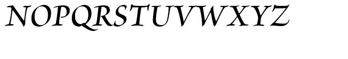 Brioso Semibold Italic Subhead Font UPPERCASE