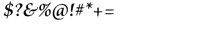 Brioso Semibold Italic Font OTHER CHARS