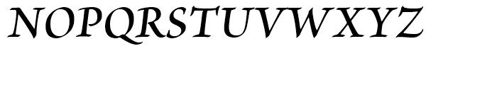 Brioso Semibold Italic Font UPPERCASE