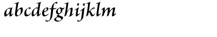 Brioso Semibold Italic Font LOWERCASE
