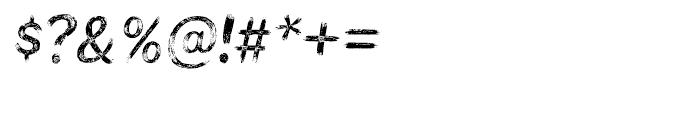 Bristles Regular Font OTHER CHARS