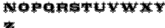 Broadgauge Ornate Condensed Font UPPERCASE