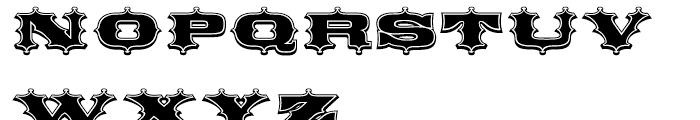 Broadgauge Ornate Regular Font UPPERCASE