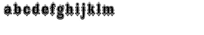 Broadgauge Ornate Xtra Condensed Font LOWERCASE