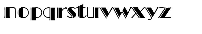 Broadway Engraved Font LOWERCASE