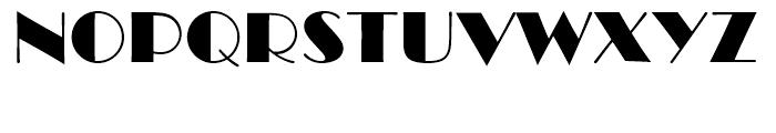 Broadway Standard D Font UPPERCASE