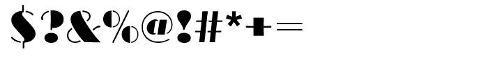 Broadway Stencil Standard d Font OTHER CHARS