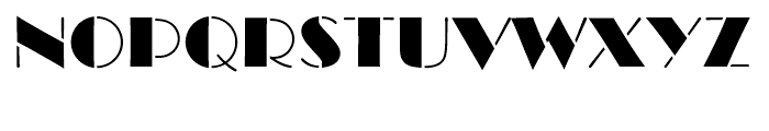 Broadway Stencil Standard d Font UPPERCASE