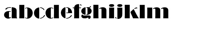 Broadway Stencil Standard d Font LOWERCASE