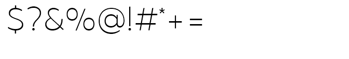 Brocha Thin Font OTHER CHARS