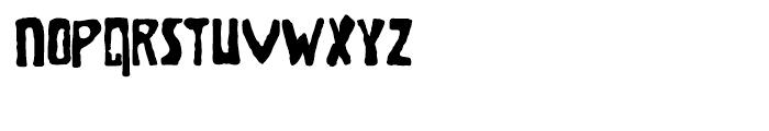 Brolga Regular Font LOWERCASE
