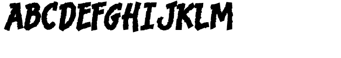 Bronto Burger Thick Font UPPERCASE