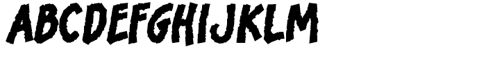 Bronto Burger Thick Font LOWERCASE