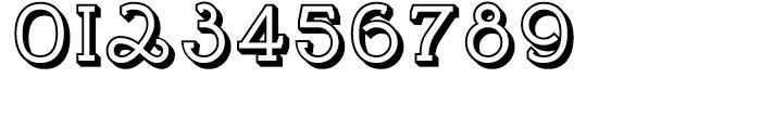 Brosse Embossed Regular Font OTHER CHARS