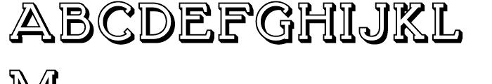 Brosse Embossed Regular Font UPPERCASE