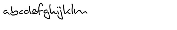 Brouet Handwriting Regular Font LOWERCASE
