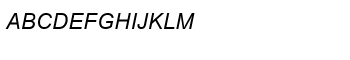 Browallia New Italic Font UPPERCASE