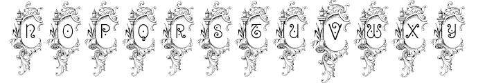 Bruce 1065 Ornamental Font UPPERCASE