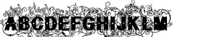 Bruce Flourished Lined Font UPPERCASE