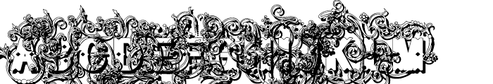 Bruce Flourished Shadow Font UPPERCASE