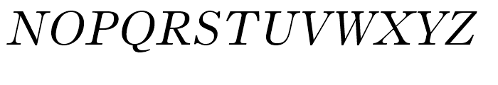Bruce Old Style Italic Font UPPERCASE