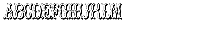Bruce Pica Shadow Font UPPERCASE