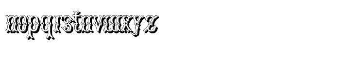 Bruce Pica Shadow Font LOWERCASE